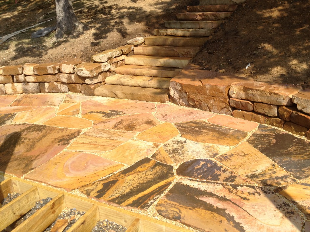 Tennessee Crab Orchard Stone Stairs